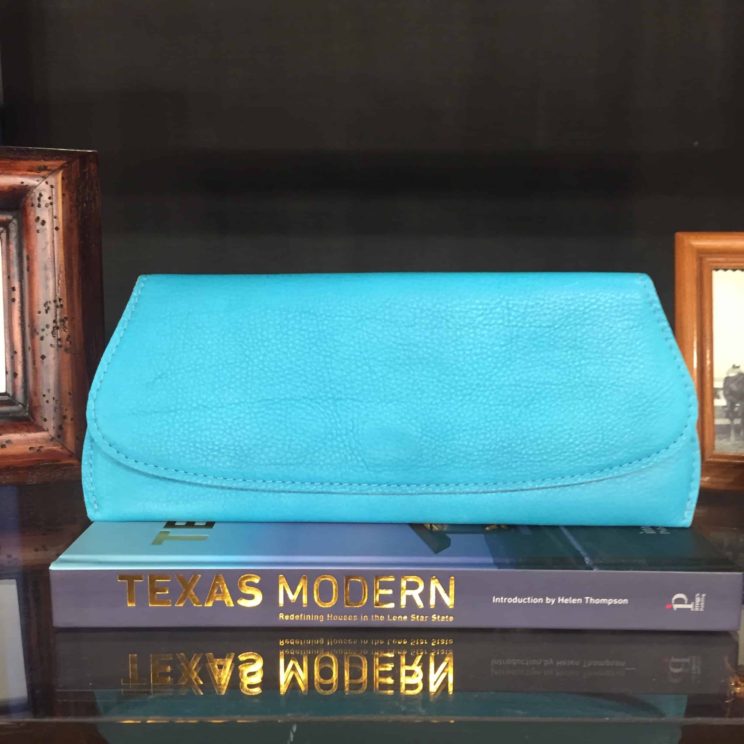 Texas Turquoise Leather Clutch