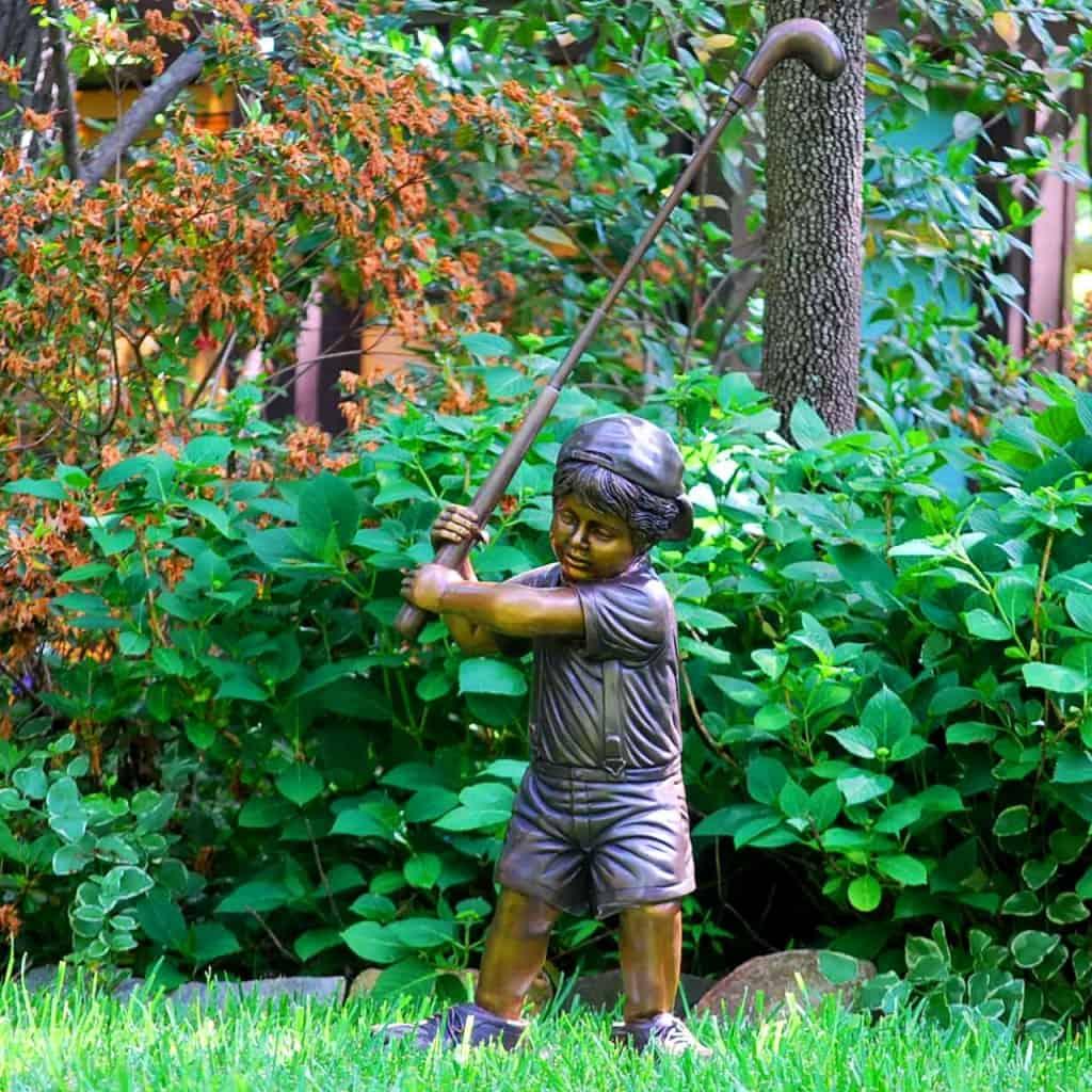 Bronze Kid Golfer