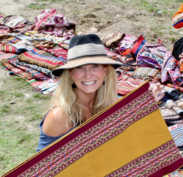 Shopping for handwoven textiles in Peru