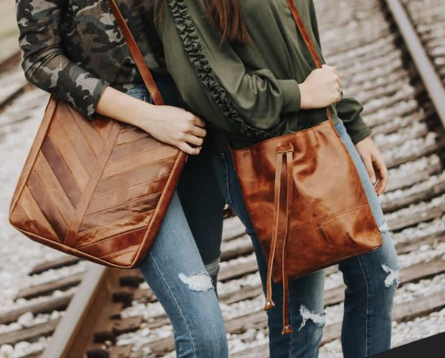 The Herringbone Tote & The Bucket Satchel