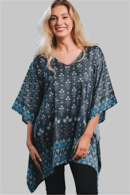 Free size top with Sari Print