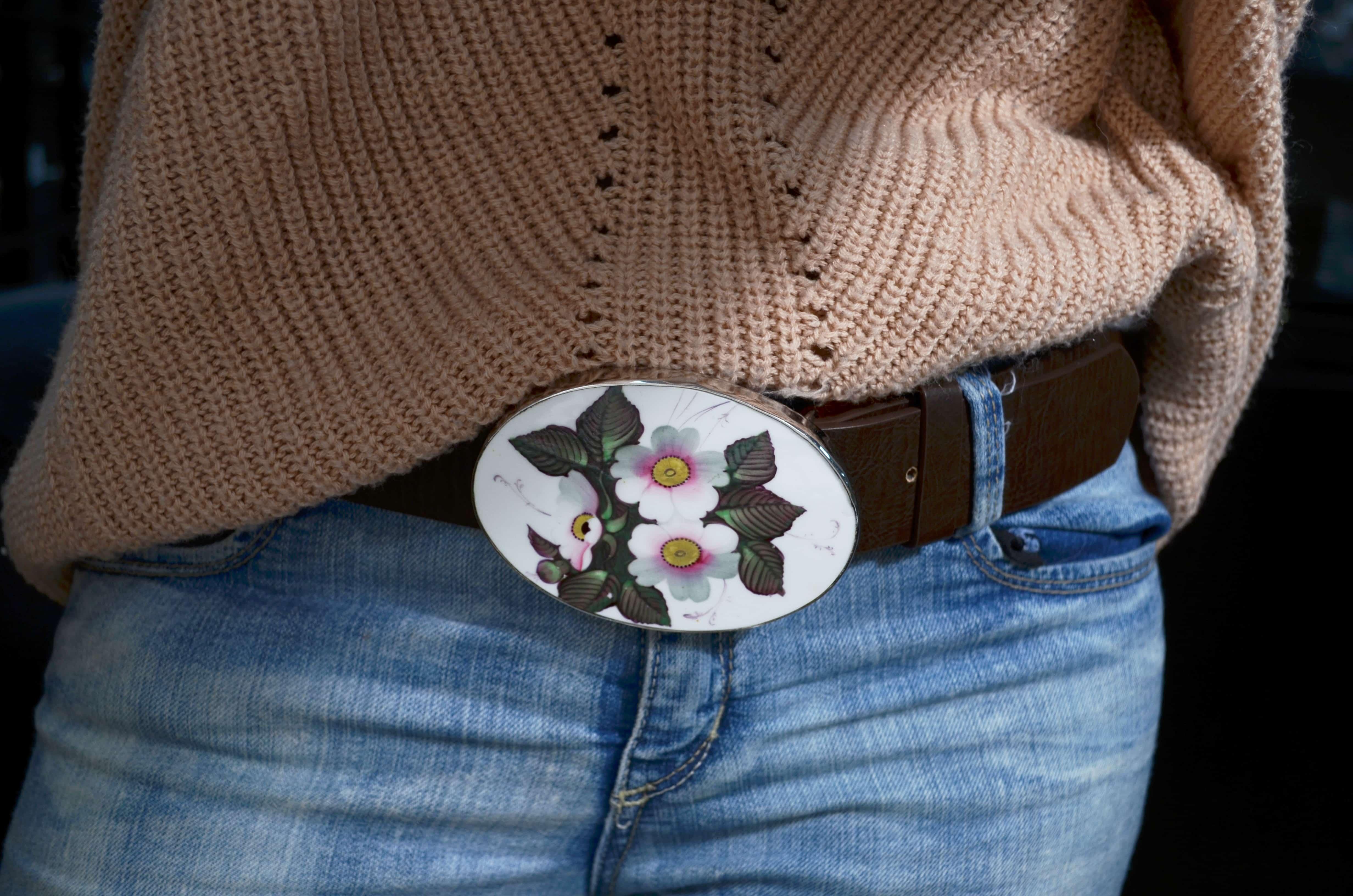 Floral Belt Buckle