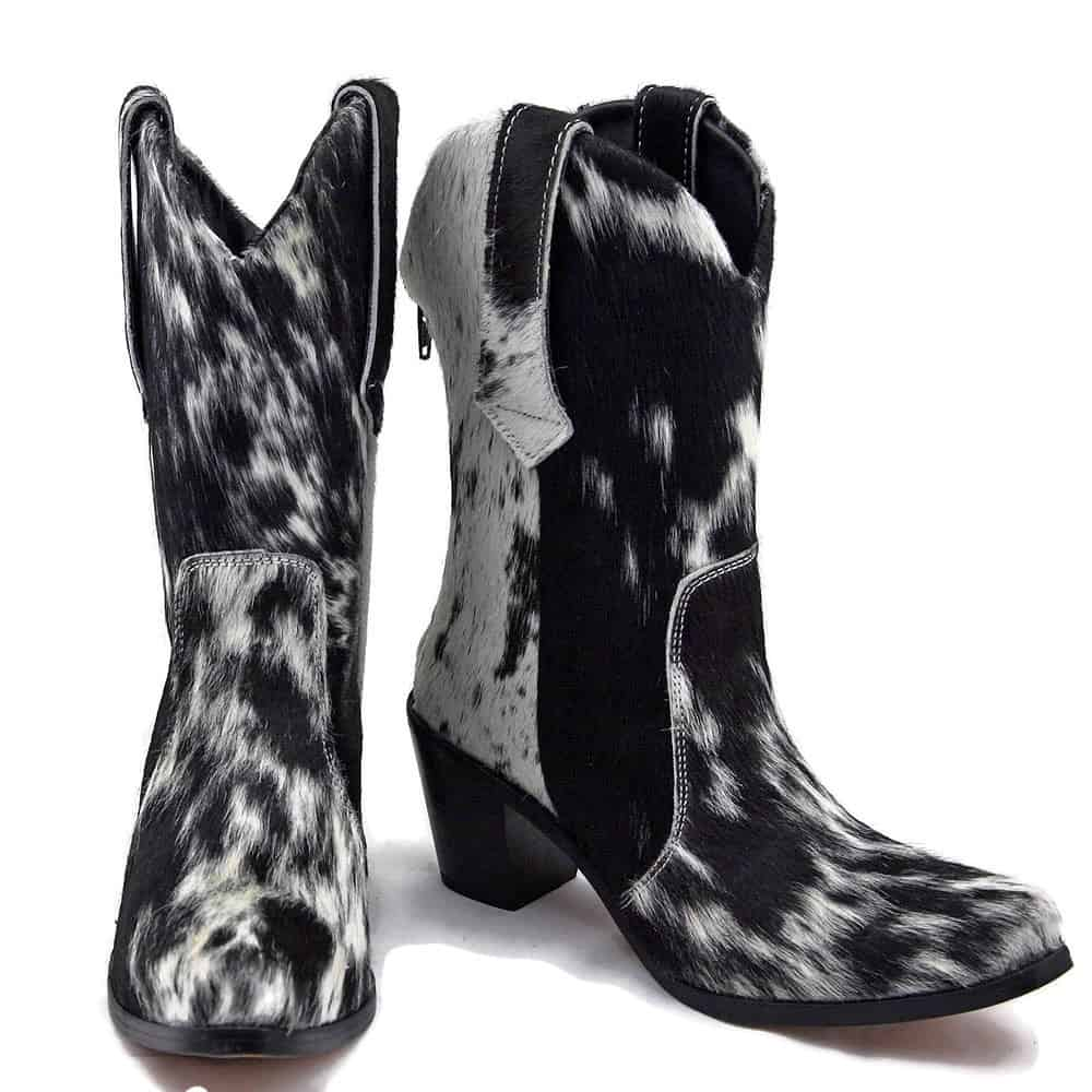 CowHide MidCalf boots