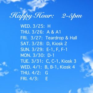 Happy Hour New Schedule