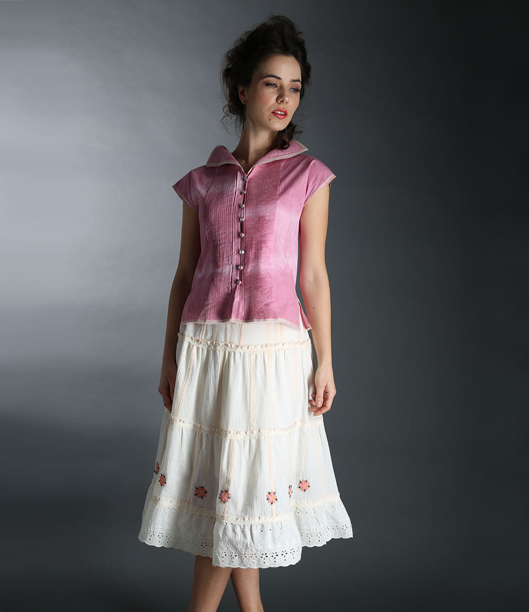 Rose top and skirt