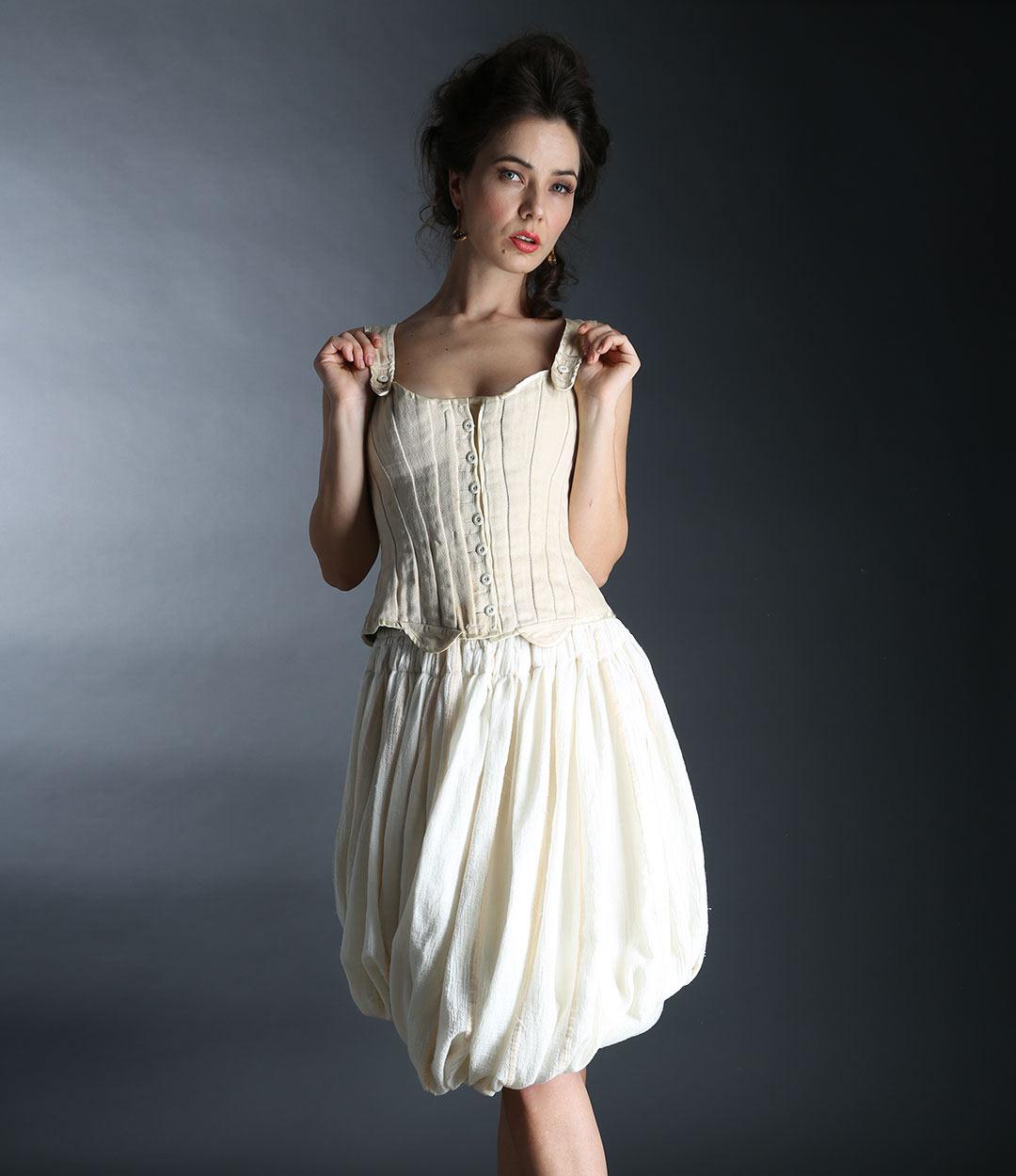 Corset and baloon skirt