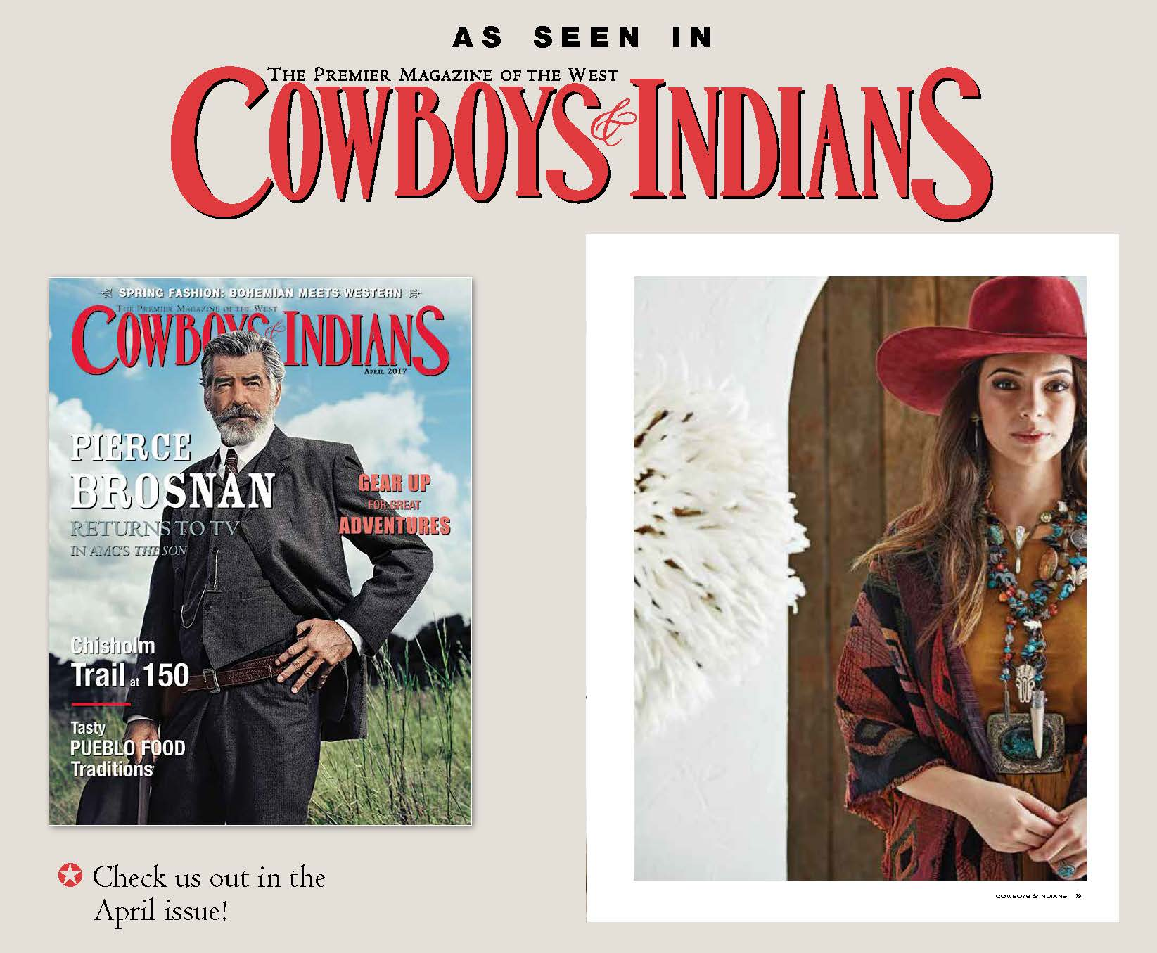 work featured in Cowboys and Indians Magazine