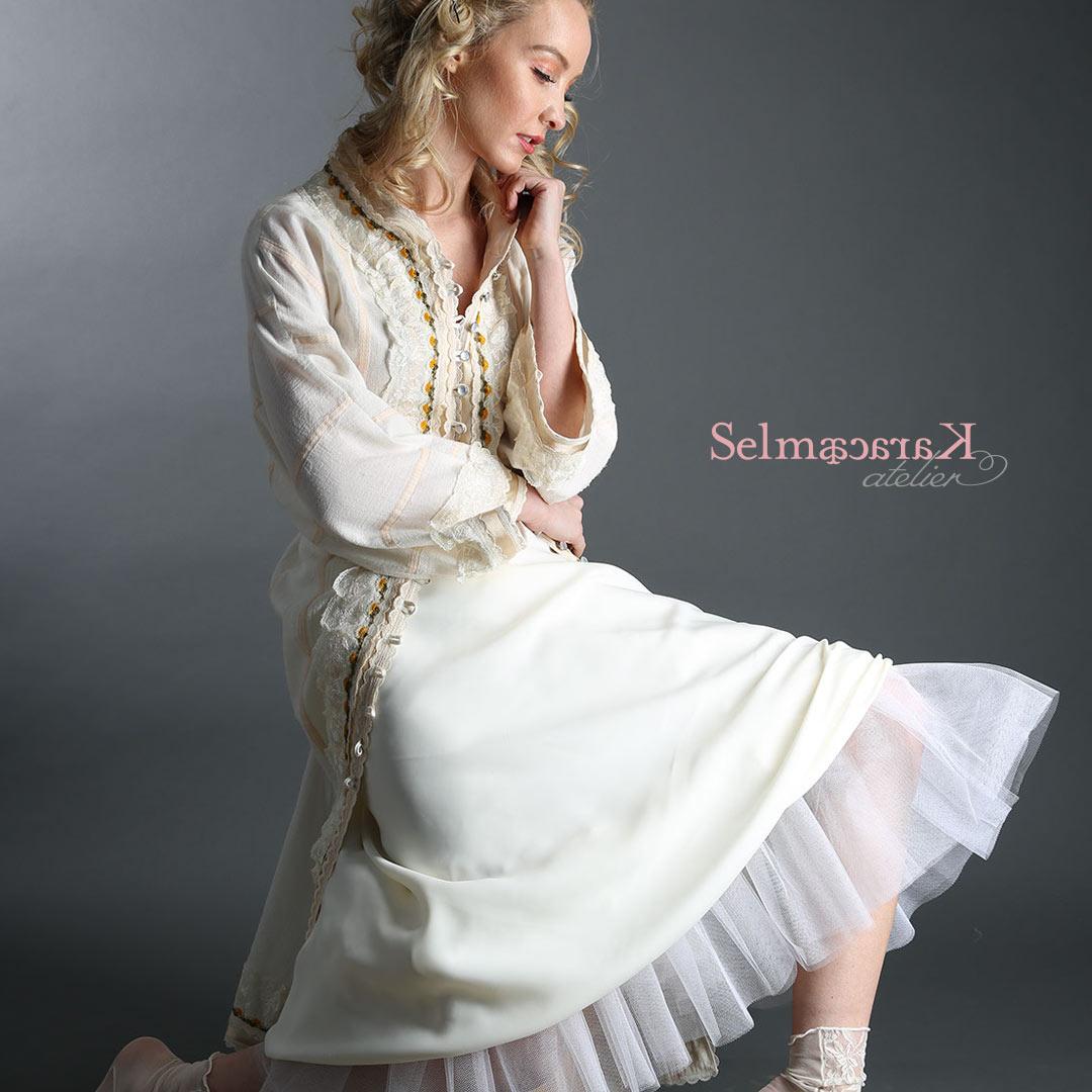 caftan and skirt